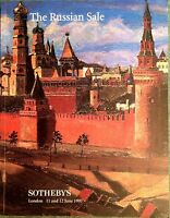 Sotheby's Catalog Russian Icons Fine Art Faberge Silver Glass Vertu 1997 London