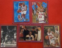 95-96 Hoops + Fleer Grant Hill Inserts Mix Lot Of 5 Pistons