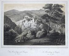 Fleischmann: Orig. Lithografie Rosenburg Teplitz Teplice Tschechien Böhmen 1846