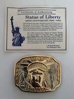 Vintage Belt Buckle Statue of Liberty 100th Anniversary 1884-1984 Ltd #000291