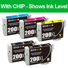 5PKs Remanufactured Ink Cartridges for 200 XL fit Epson Workforce WF-2540 & More