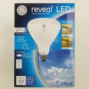GE 65w Reveal LED BR40 Dimmable Floodlight Bulb 45694
