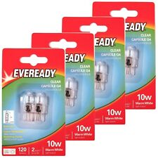 8 x EVEREADY G4 10W Halogen Capsule Bulb CLEAR 120 Lumens 12V Lamp