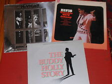 LOT OF 3 VINTAGE ROCK AND ROLL RECORD ALBUMS ELVIS/B.HOLLY/WHO EXT. GOOD+ COND.