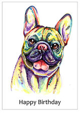 French Bulldog Birthday Card Bull Dog Gift - CUSTOM TEXT - Gifts