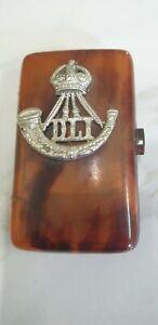 antique small early plastic cigarette case DLI military