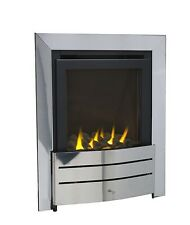IGNITE 400 HE 4kw HIGH EFFICIENCY 86% INSET CHROME GAS FIRE GLASS FRONT 5 YEAR
