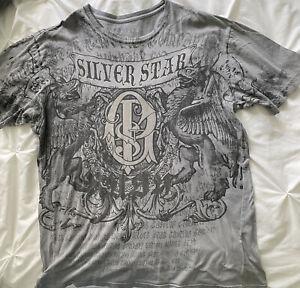 Silver Star Men's T-shirt, 2XL