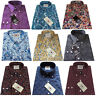 Relco Men's Paisley Shirt Long Sleeve Button Down Collar Retro Indie 60s Mod