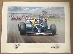 """Nigel Mansell's """"Victory"""" Limited Edition Print by Tony Smith"""