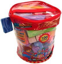 Verdes Toys, Soft and Safe Foam Building Blocks, Set of 100, (77367) , New, Free