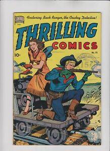 Thrilling Comics #75 Alex Schomburg cover 1949 Standard Comics