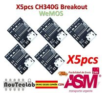 5pcs WEMOS CH340G Breakout 5V 3.3V USB to serial module