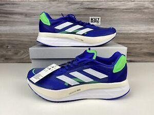 **NEW Men's Adidas Adizero Boston 10 Blue White Running   size 11   FZ2498 NWB