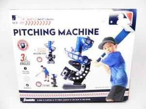 Franklin Sports MLB Playball Pitching Machine with 3 Angles & 6 Baseballs