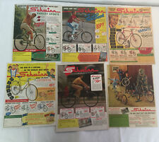 LOT of 42 1940s-1960s SCHWINN bicycle ads~Jaguar, Black Phantom,Traveler,Varsity