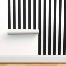 Peel-and-Stick Removable Wallpaper Vertical Stripes Black And White Stripes