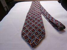 ROBERT TALBOTT designer Soft Silk Mens Neck Tie multi color geometric print