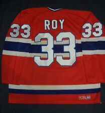 PATRICK ROY Montreal Canadiens CCM Home Red Jersey Large NHL Avalanche LeClair