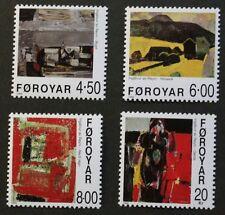 Paintings by ingalvur AV Renyi FRANCOBOLLI, 1999, delle isole Fær Øer, SG RIF: 383-386, Gomma integra, non linguellato