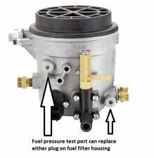 Ford Powerstroke Diesel 7.3 Fuel Pressure Test Adapter Schrader Valve Elbow Port