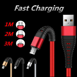 Rapid 2A Charging USB To Lighting Data Sync Cable Charger For Samsung Lot