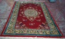 STUNNING ORIENTAL ART DECO ANTIQUE CHINESE HAND KNOTTED AUBUSSON DESIGN RUG 6X10
