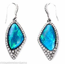 Silver Plated Resin Crystal Drop/Dangle Fashion Earrings