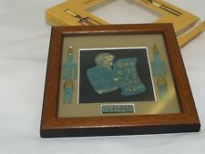 Lebanon Antiquity Art, Hand Made Wooden Frame Phoenician Alphabet