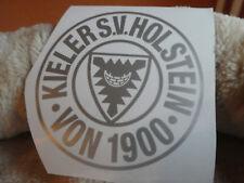 Holstein Kiel Auto Aufkleber Silber Fussball Bundesliga Fanartikel 9 cm