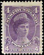 1901 Canada Mint Newfoundland 4c F Scott #84 Stamp No Gum
