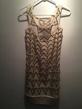 CHANEL 100% Silk Dress With Bids Size 2 Nice!