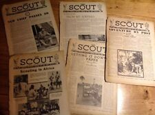 5 x THE SCOUT 3 10 17 24 31 August 1944 Vintage Magazine Weekly Official