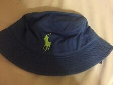 3127e9673fa94 Polo Ralph Lauren Bucket Hat Big Pony Boys 4-7 Years Blue   Neon Green