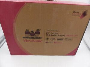 "VIEWSONIC FULL HD 19.5"" 1080HP LED BACKLIT LCD MONITOR VA2055SM"