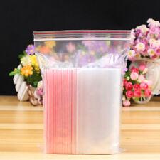 100pcs Resealable Zip Lock Plastic Bag Clear Vacuum Reclosable Package Bag