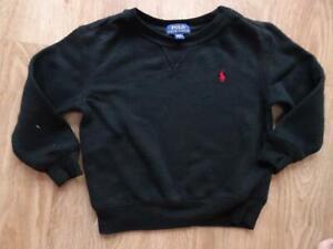RALPH LAUREN POLO boys black sweatshirt jumper AGE 2 - 3 YEARS 3T authentic