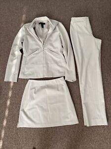 The Limited 3 Piece Suit Jacket Pants Skirt Stretch Size XS 2/4