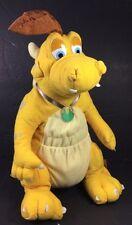 "Dragon Tales Quetzal Yellow Dragon Plush Stuffed Animal Playskool  2000 12"" Dino"