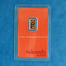 Des lingots d'or 1g 1 grammes valcambi suisse BLISTER or 99,99 Gold Bar 1 G