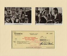 GREGORY PECK  FILM STAR ACTOR HAND SIGNED BANK CHEQUE 1973  MOUNTED DISPLAY