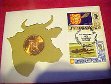 1971 #215 99 COMPANY JERSEY 2 NEW PENCE FIRST DAY FIRST ISSUE BRONZE