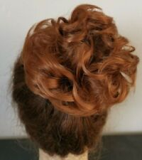 ginger copper red fake pony tail bun elastic hair piece extension scrunchie
