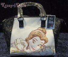 Disney Beauty And The Beast Sketch Satchel Handbag/ Pocketbook New w/tags!