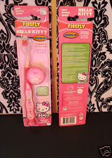(2) Firefly HELLO KITTY Toothbrush with Cap Travel Kit - Suction Cup Base - Soft