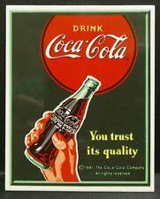 "Dollhouse Miniatures Metal Sign Advertising Coke Trust COCA COLA 2"" x 2 1/2"""