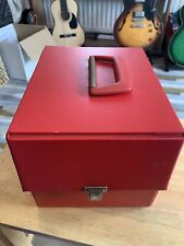 "Large 45rpm 7 Inch RECORD STORAGE CASE 7"" Single Red vinyl"