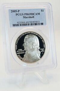 2005-P PCGS PR69DCAM Marshall $1 Modern Commemorative Silver Proof