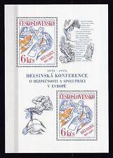 Tschechoslowakei 1976 Block MiNr. 33   Konferenz von Helsinki