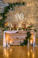 """22"""" WIDE STURDY 1/2"""" THICK UNFINISHED BIRCH WOOD MONOGRAM: PERFECT WEDDING GIFT"""